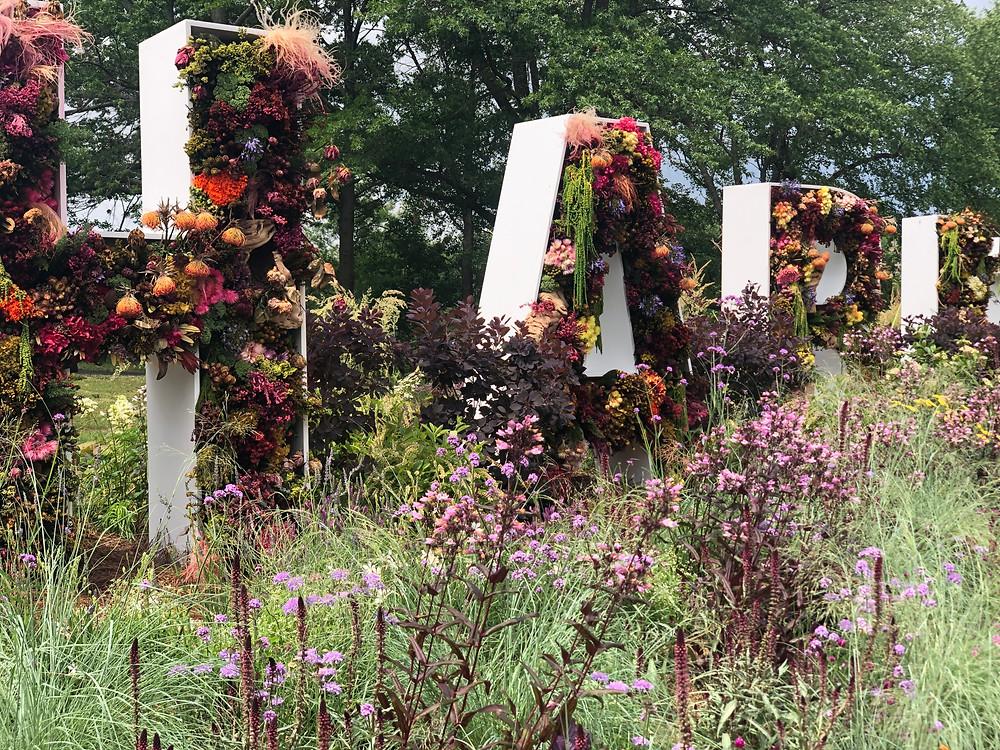 Habitat sign Philadelphia Flower Show