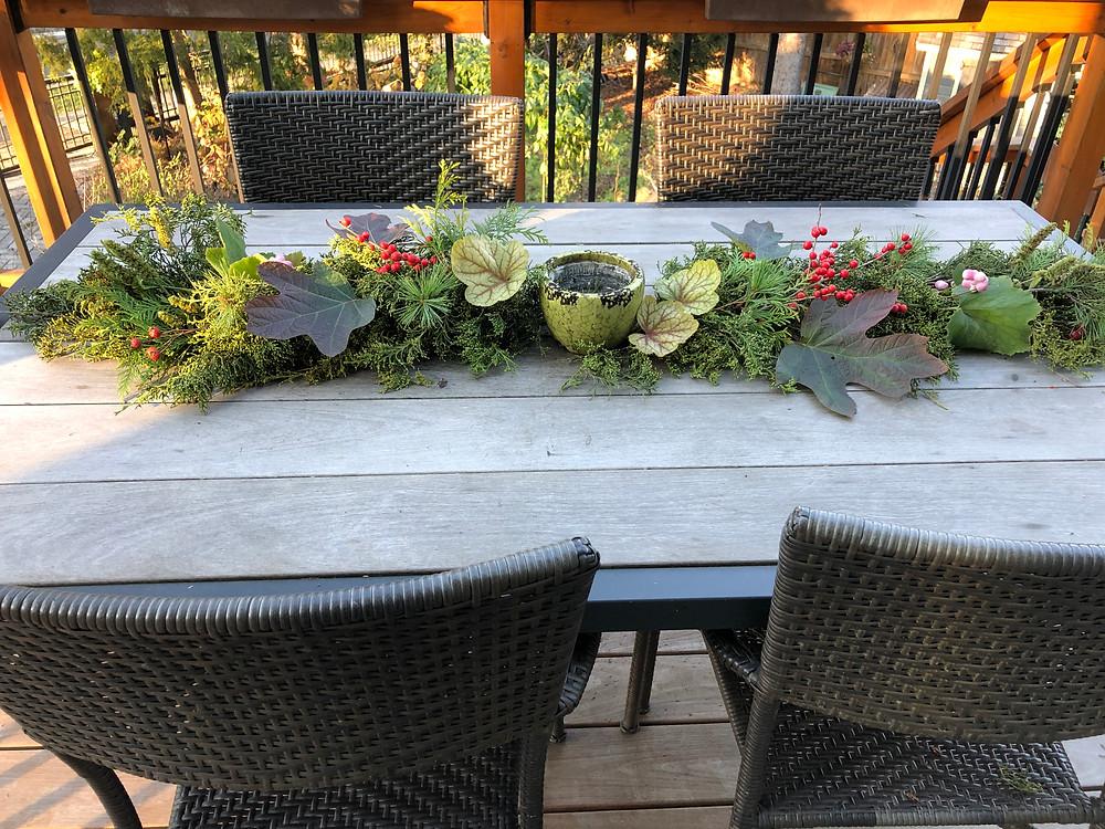 native plant table decor