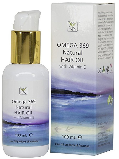 Omega 369 Natural Hair Oil with Vitamin E