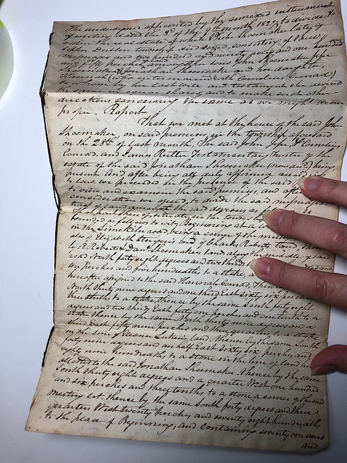 REALLY UNIQUE! 1898 Handwritten Deed bound with string, Montgomery County PA