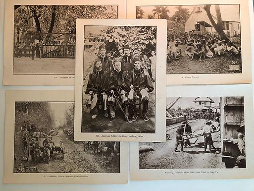 5 Photo Prints: Boxer Rebellion & POW, by J.D. GIVENS 1899 Spanish American War