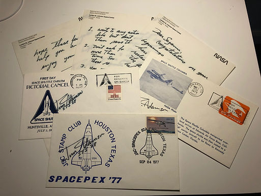 Jim Adamson NASA Astronaut, 3 Covers & RARE Autographed Letter GIVING ADVICE