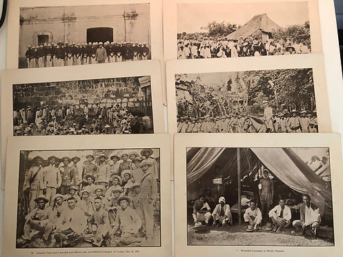 6 Prints from J.D. GIVENS 1899 Spanish American War, Manilla Insurgents Generals