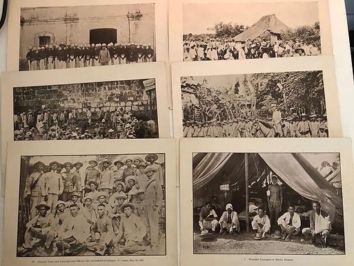 6 Prints from J.D. GIVENS 1899 Spanish American War, Manilla Insurgents Generals