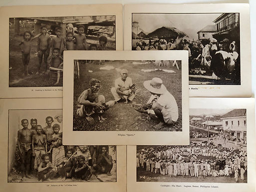 5 Prints Sports, Native people in 1899 Philippines, Spanish American War