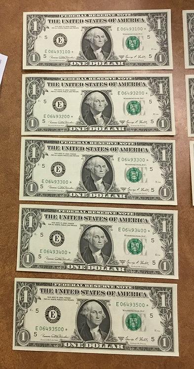 1969 D $1, 5 FANCY STAR NOTES E Richmond