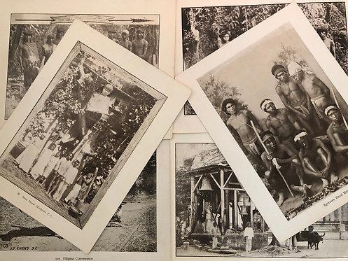 6 Prints - Indigenous People Philippines 1899