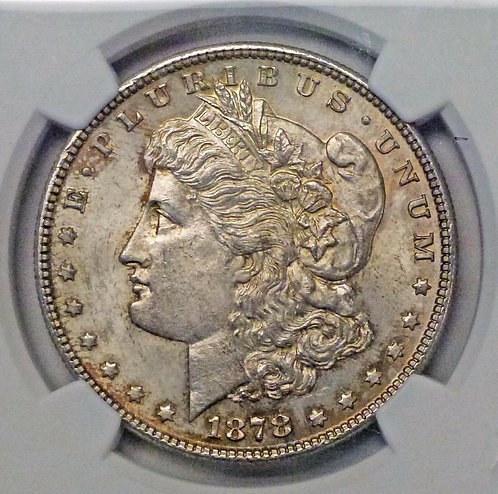 1878 MORGAN Dollar 7TF REV 78 NGC MS63 VAM 110 R4 Light Gold Rim