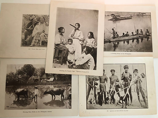 5 Prints - Indigenous People from J.D. GIVENS ca.1899 Spanish American War