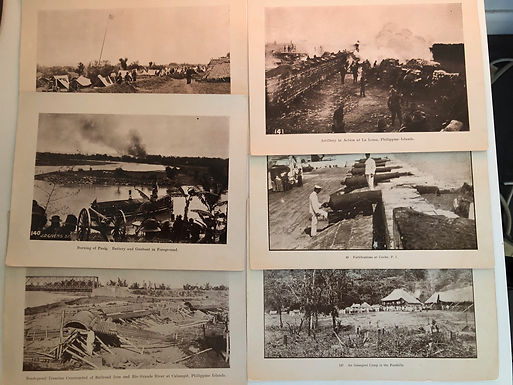J.D. GIVENS 1899 Spanish American War 5 Photo Prints: War in Philippines