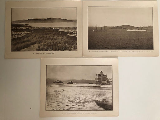 3 San Francisco Prints from J.D. GIVENS ca.1898 Spanish American War collection