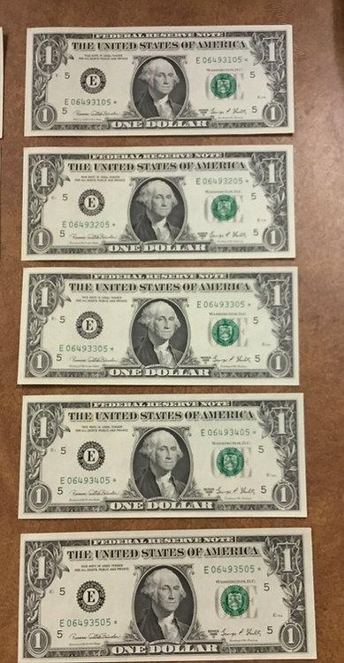 1969 D $1 5 FANCY STAR NOTES E Richmond