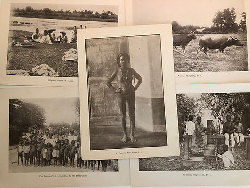 5 Prints Indigenous Native Igarrote Philippines 1899 Spanish American War