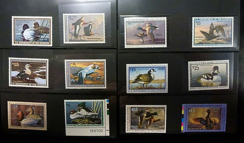 RW38-RW67 30 DUCK STAMPS XF NH Superb QUALITY 1971-2000