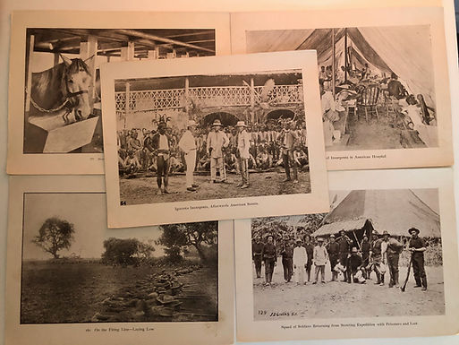 5 Photo Prints Incl Igorrote Insurgents, J.D. GIVENS 1899 Spanish American War