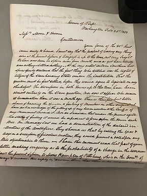 RARE 1850 Letter from John Freedley, 31st Congress discussing slavery debate