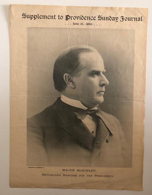 Major William McKinley- Providence Sunday Journal, Republican Nominee President