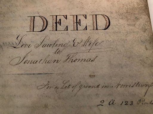 1825 Vellum Deed transfer PA land owned by FEDERALIST CONGRESSMAN Levi Pawling