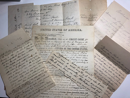 Germany to WISCONSIN 1860+ Hohly- Reed Family Genealogy Letters & Citizenship