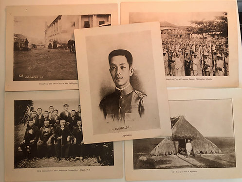 5 Prints including Emilio Aguinaldo from J.D. GIVENS 1899 Spanish American War