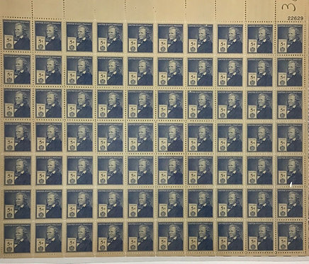892. Elias Howe, Famous American. MNH 5 cent sheet of 70 Stamps