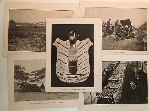 J.D. GIVENS 1899 Spanish American War 5 photo Prints: BATTLE & SOLDIERS
