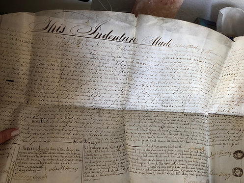 1836 Deed on Vellum transfer of Norristown, PA land from Henry to Hoover