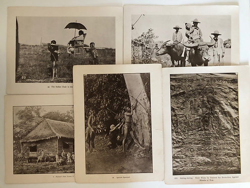 5 Prints Indigenous People,1899 DAILY LIFE IN Philippines, Spanish American War