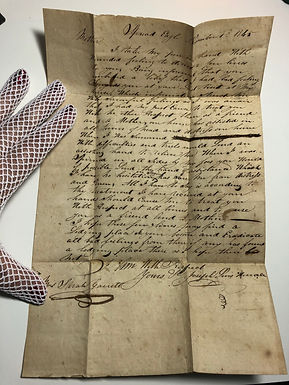 """Mysterious Personal Letter of Apology to """"Mother"""", 1845 Delaware County, PA"""