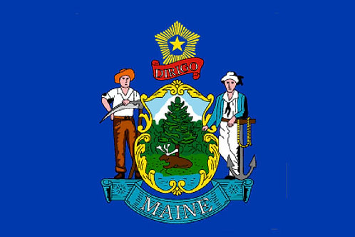 Maine Motorcycle flag