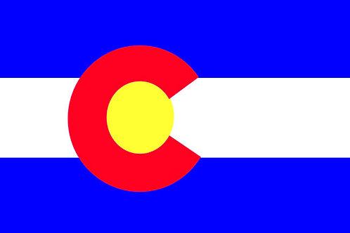 Colorado Motorcycle flag