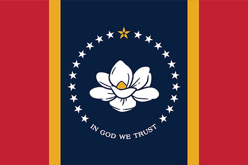 Mississippi Magnolia Motorcycle Flag