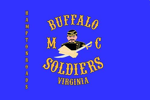 Buffalo Soldiers VA Motorcyle Flag