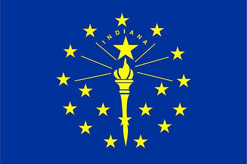 Indiana Motorcycle flag