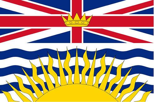 British Columbia Motorcycle Flag