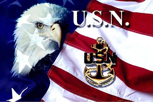 Navy Anchor Eagle Flag