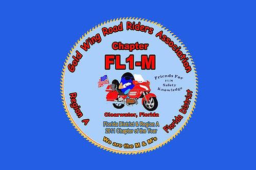 Florida, Ch-FL1-M  Motorcyle  Flag