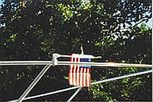The new 3/4 mount  FOLD DOWN FLAG POLE FOR BOATS!!!