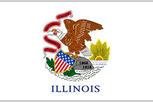 Illinois Motorcycle flag
