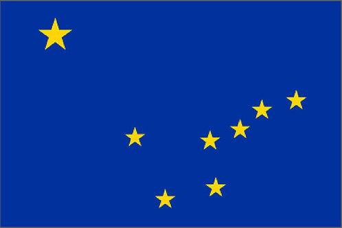 Alaska Motorcycle Flag
