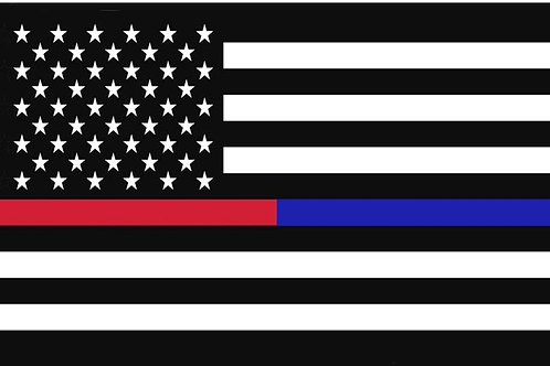 Thin Red Blue Line Motorcycle Flag