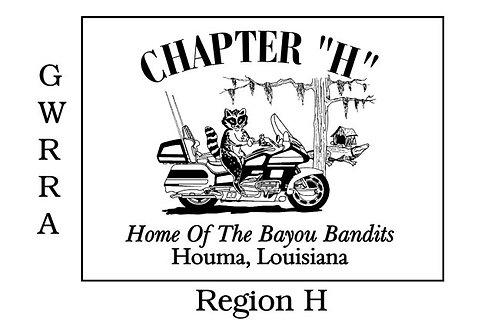 Louisiana, Ch-H Motorcyle  Flag