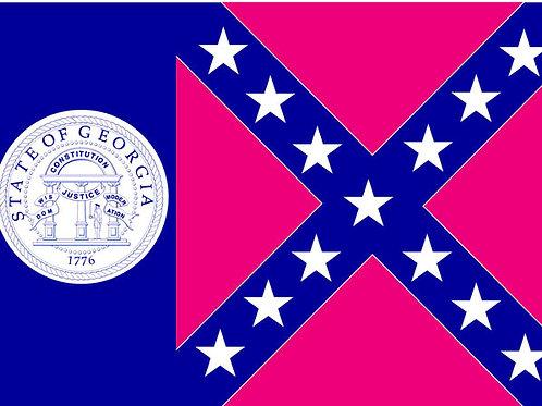 Old Georgia motorcycle flag