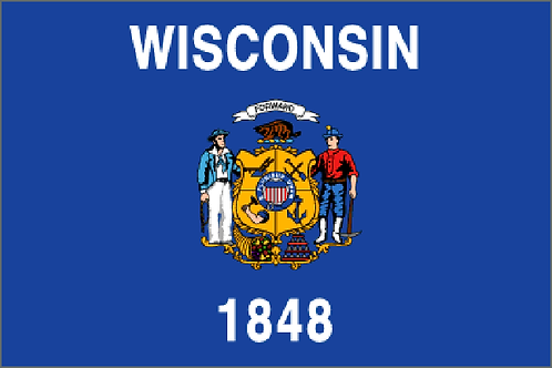 Wisconsin Motorcycle flag