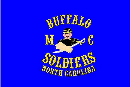 Buffalo Soldiers NC Motorcyle Flag
