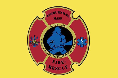 Fire Rescue Motorcycle Flag