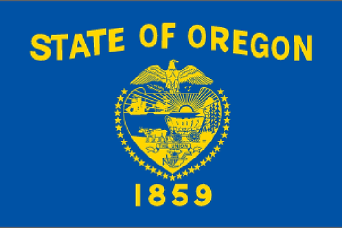 Oregon Motorcycle flag