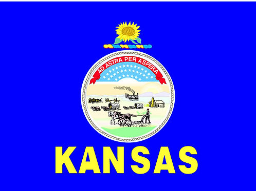 Kansas Motorcycle flag