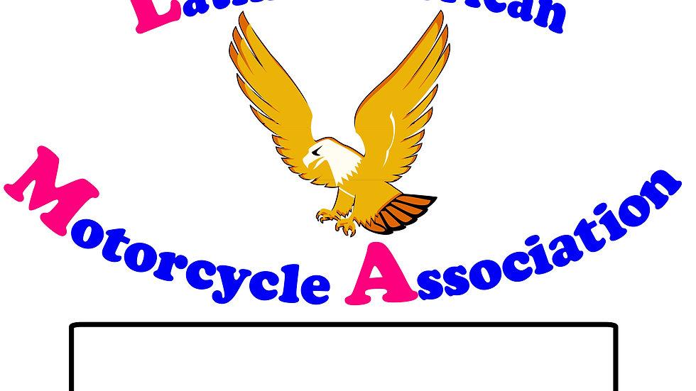 Latin American Motorcycle Assoc  Motorcyle  Flag