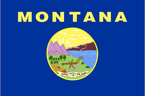 Montana Motorcycle flag